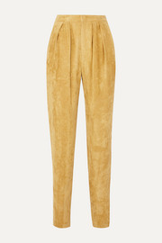 Isabel Marant Fany pleated corduroy tapered pants