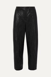 Cédric Charlier Faux leather tapered pants