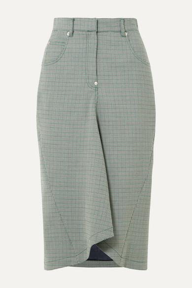 5850ba7a49 Pushbutton | Houndstooth woven midi skirt | NET-A-PORTER.COM