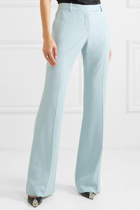 Crepe flared pants