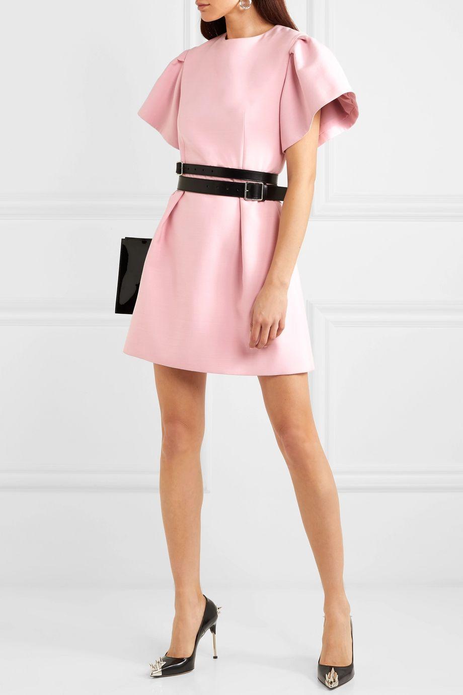 Alexander McQueen Wool-blend crepe mini dress