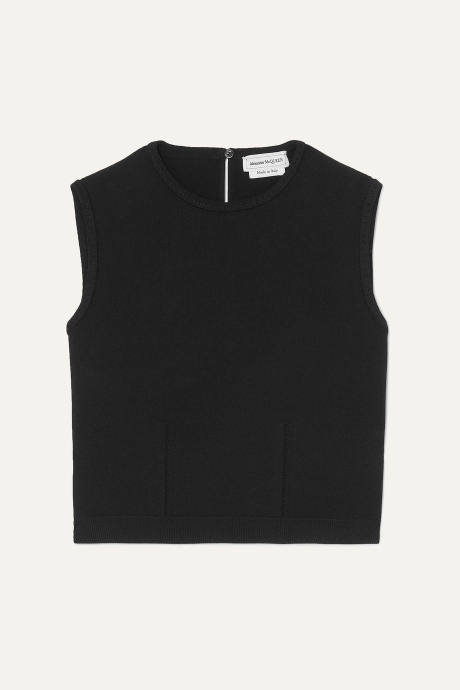 Alexander McQueen Cropped stretch-knit tank