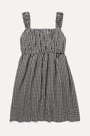 Gingham seersucker dress