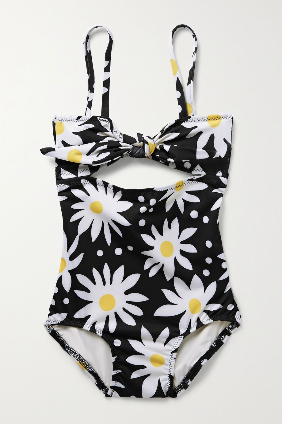 Solid & Striped Kids Cutout knotted floral-print swimsuit