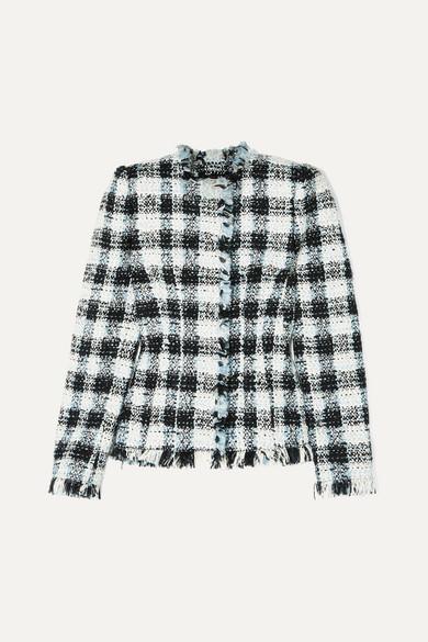 Alexander Mcqueen  Checked bouclé-tweed blazer