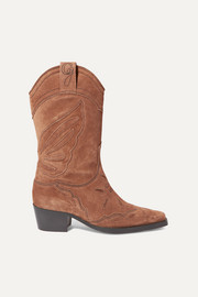 High Texas embroidered suede boots