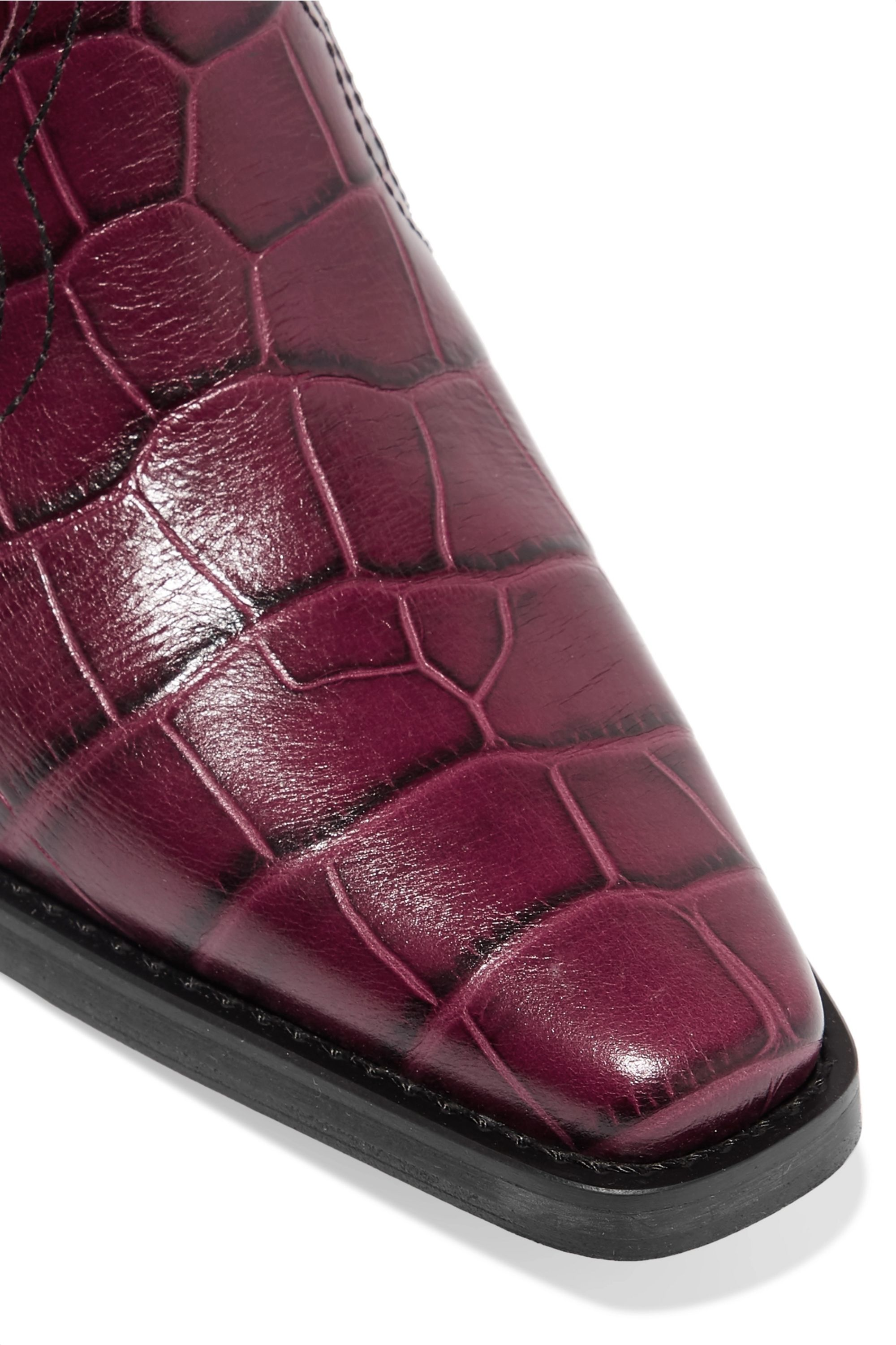 patent-leather ankle boots | GANNI