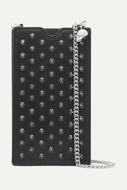 Studded leather phone case
