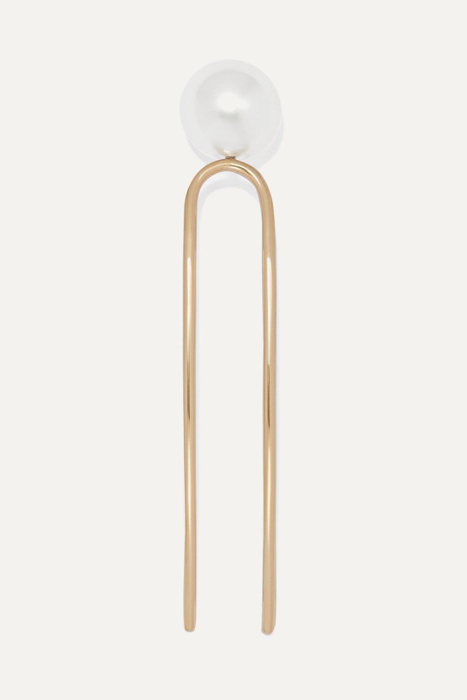 Sophie Bille Brahe Grace Simple 10-karat gold pearl hair slide