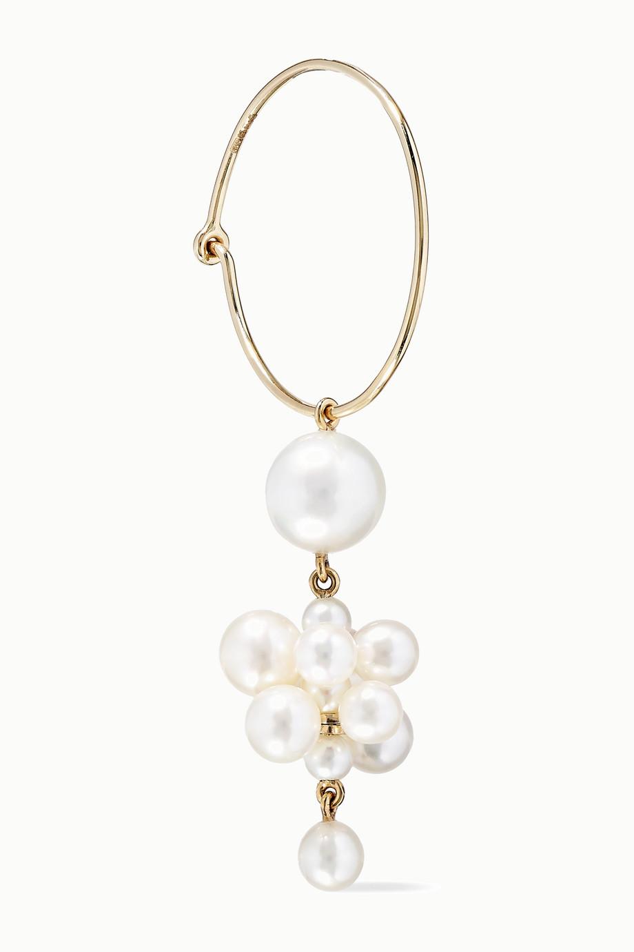 Sophie Bille Brahe Boucle d'oreille en or 14 carats et perles Botticelli