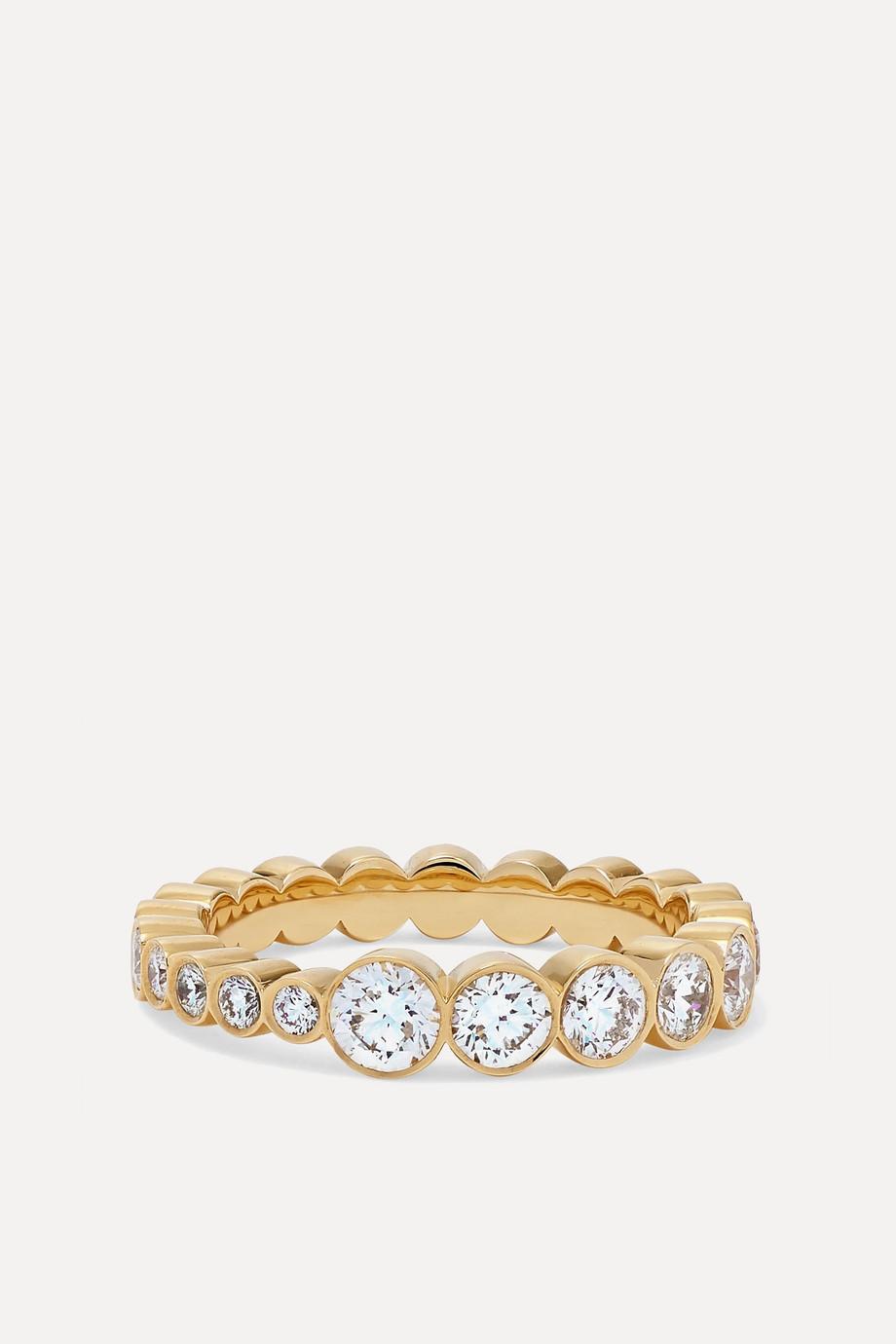Sophie Bille Brahe Bague en or 18 carats et diamants Croissant de Ensemble