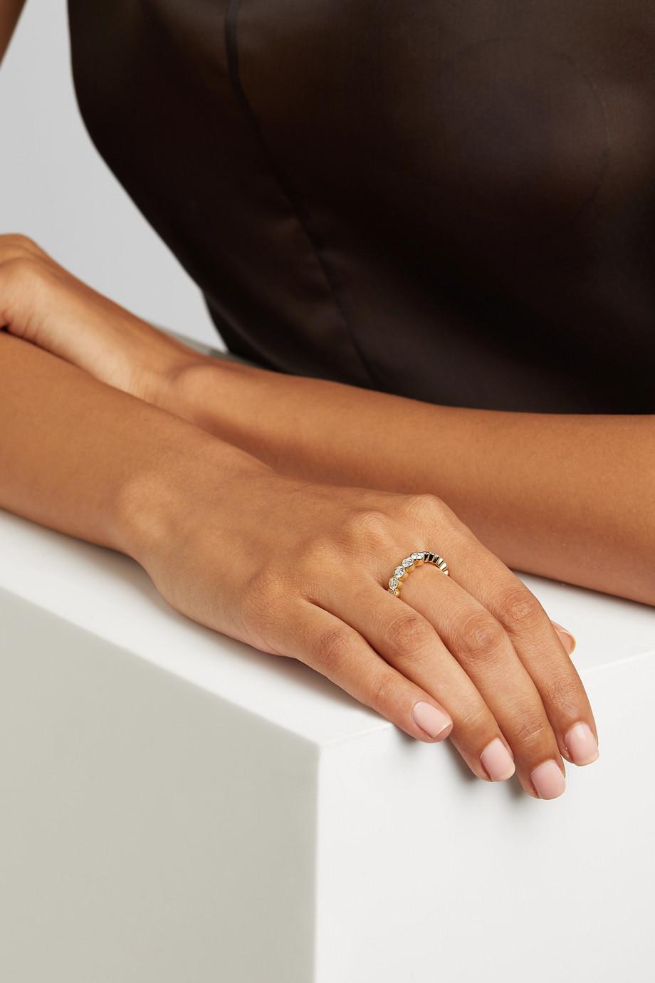 Sophie Bille Brahe Croissant de Ensemble 18-karat gold diamond ring