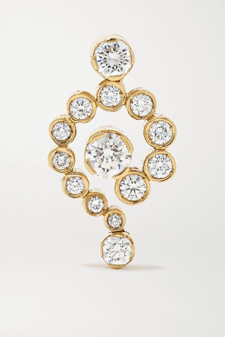 Sophie Bille Brahe Escargot Anita 18-karat gold diamond earring