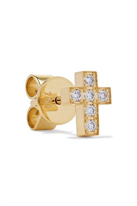 Gold Giulietta Oreille 18-karat gold diamond earring   Sophie Bille Brahe dr6yrM