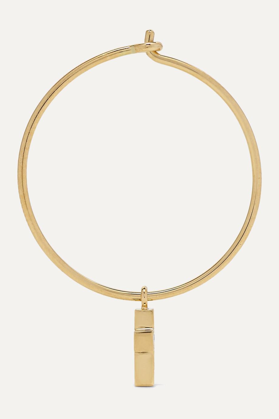Sophie Bille Brahe Giulietta 18-karat gold diamond hoop earring