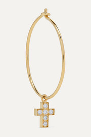 Giulietta 18-karat gold diamond hoop earring