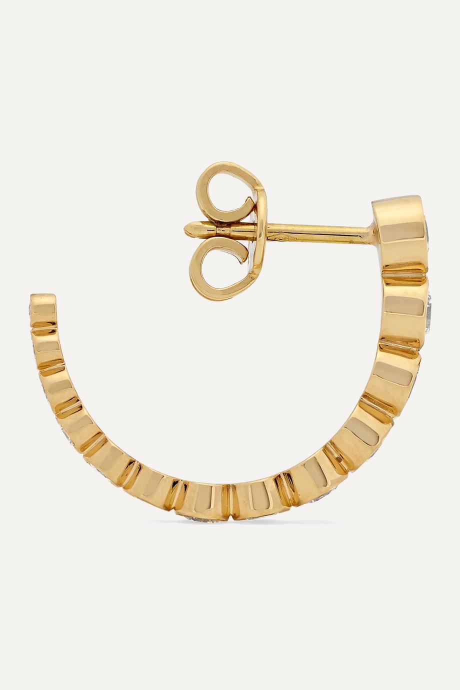Sophie Bille Brahe Boucle Ensemble 18-karat gold diamond earrings
