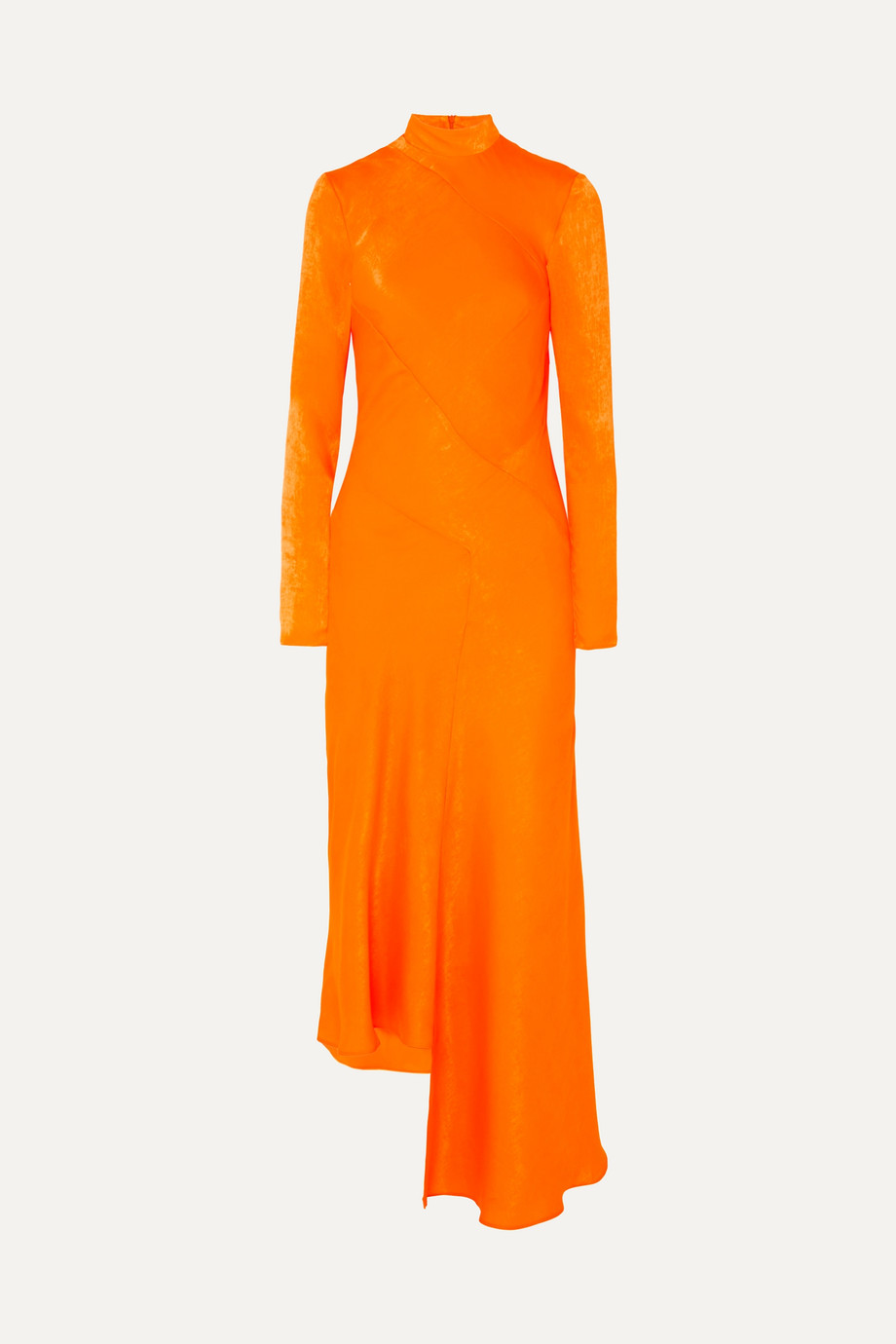 House of Holland Asymmetric hammered-satin dress