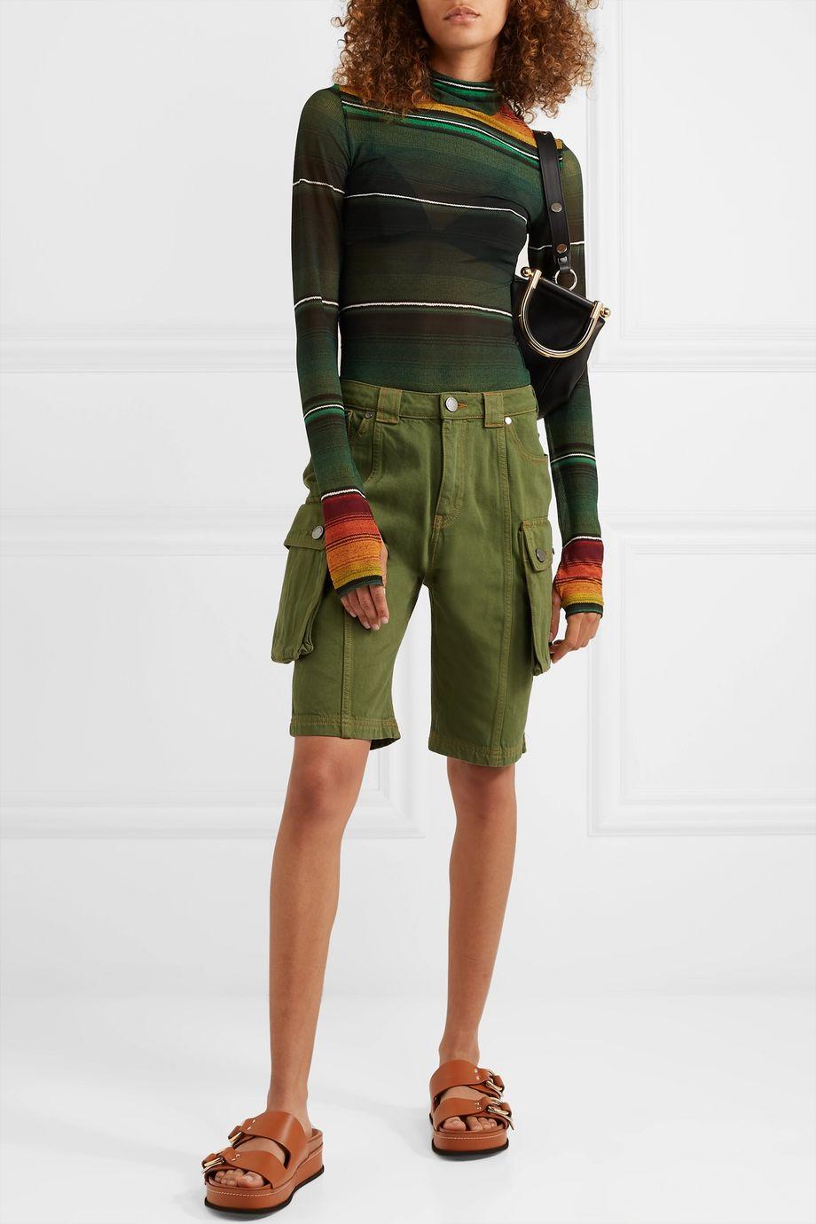 House of Holland Denim cargo shorts