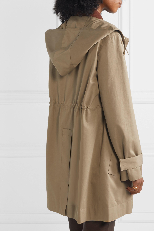 The Row Haze hooded cotton-gabardine coat