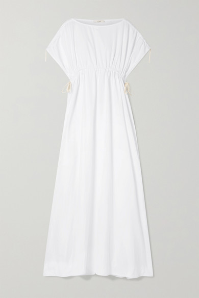 Nea Oversized Gathered Cotton Poplin Gown by The Row