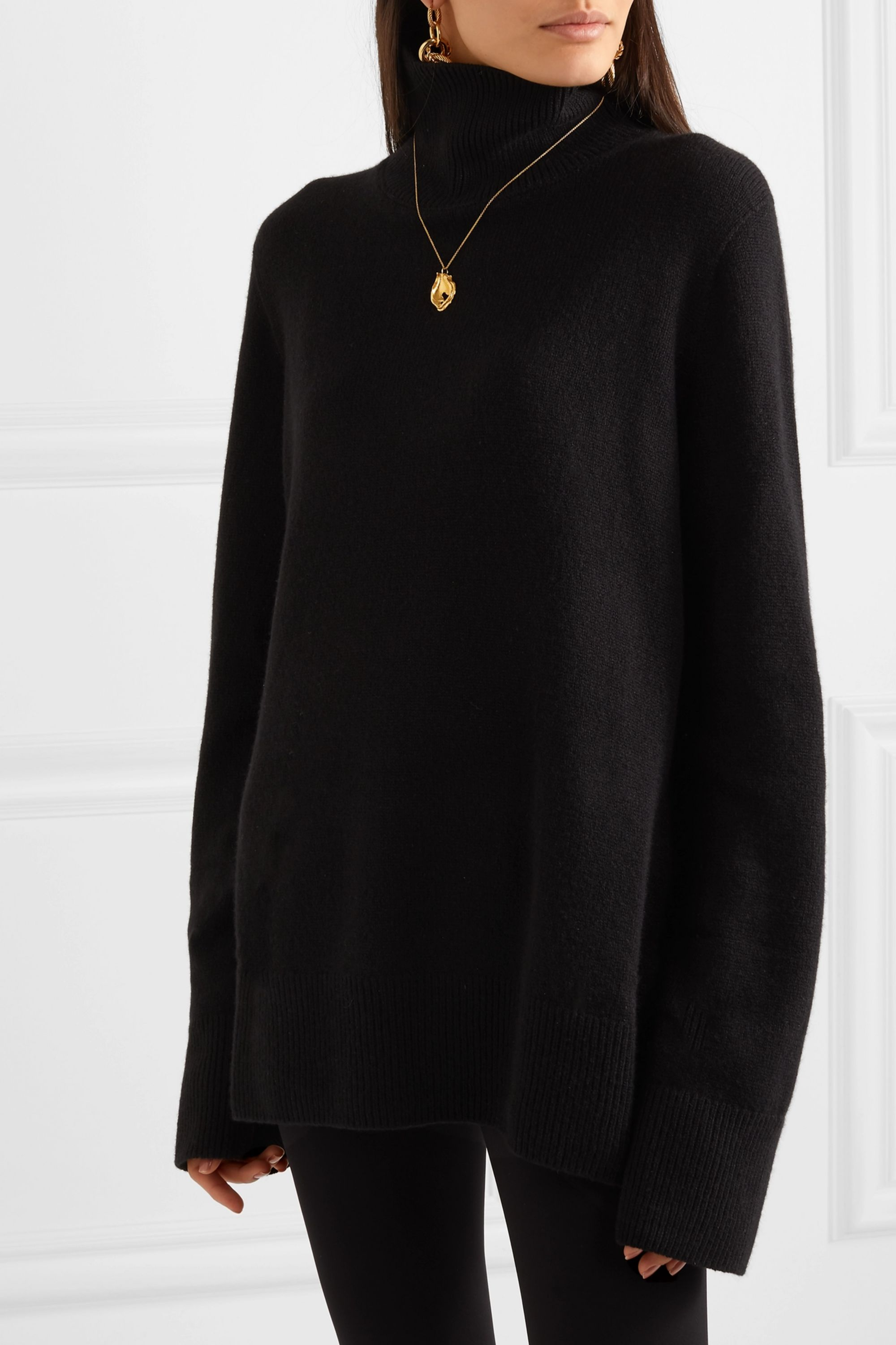 The Row Milina wool and cashmere-blend turtleneck sweater