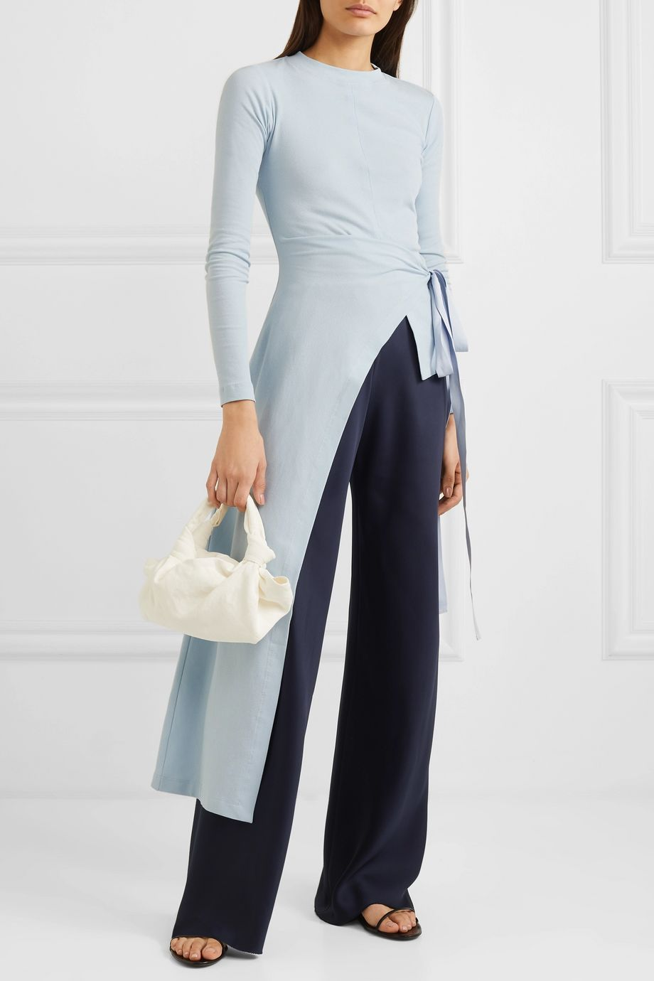 The Row Gala silk-satin wide-leg pants