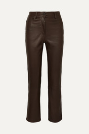 The Row Pantalon droit en cuir Charlee