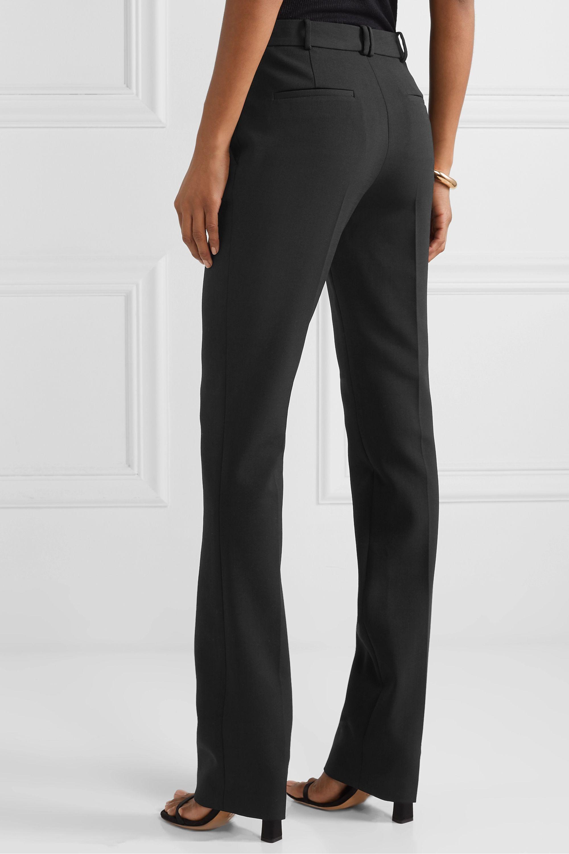 The Row Roosevelt wool-blend crepe straight-leg pants