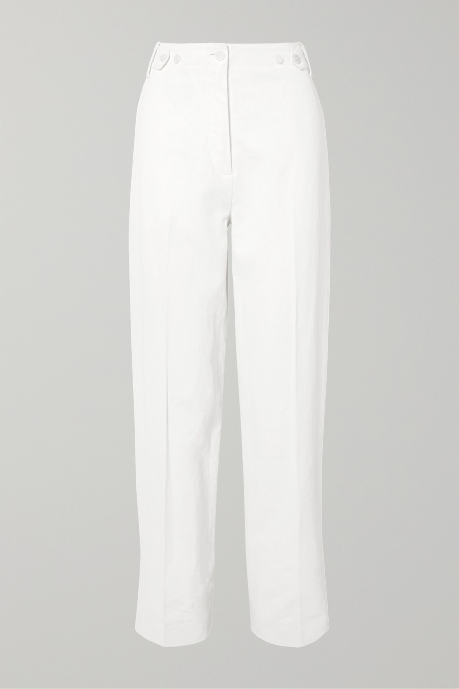 The Row Matea pleated linen-blend wide-leg pants