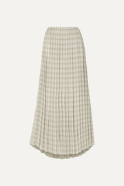 The Row Tulu pleated printed silk-crepe maxi skirt