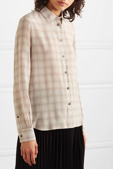 Jonas printed silk shirt
