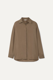 The Row Sisea silk-satin shirt