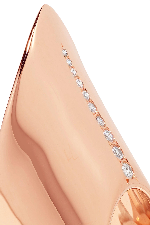 Diane Kordas Armour 18-karat rose gold diamond ring