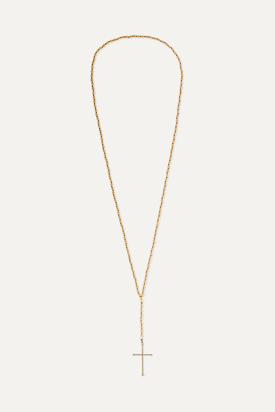 Diane Kordas Aura 18-karat gold, quartz and diamond necklace