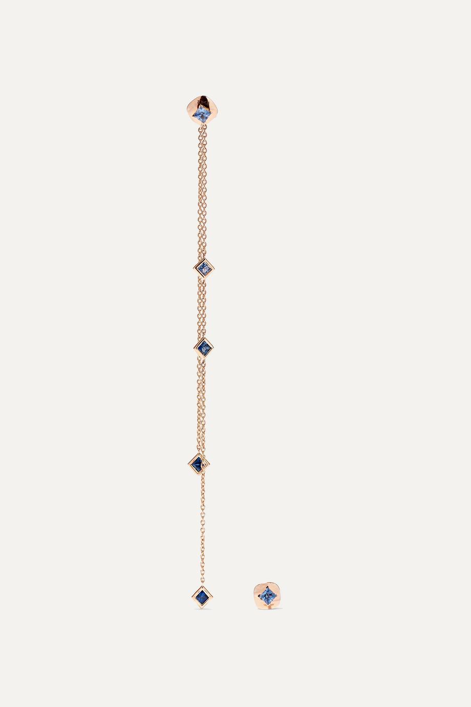 Diane Kordas 18-karat rose gold sapphire earrings
