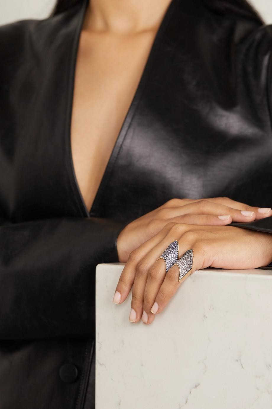 Diane Kordas 18-karat rose gold sapphire ring