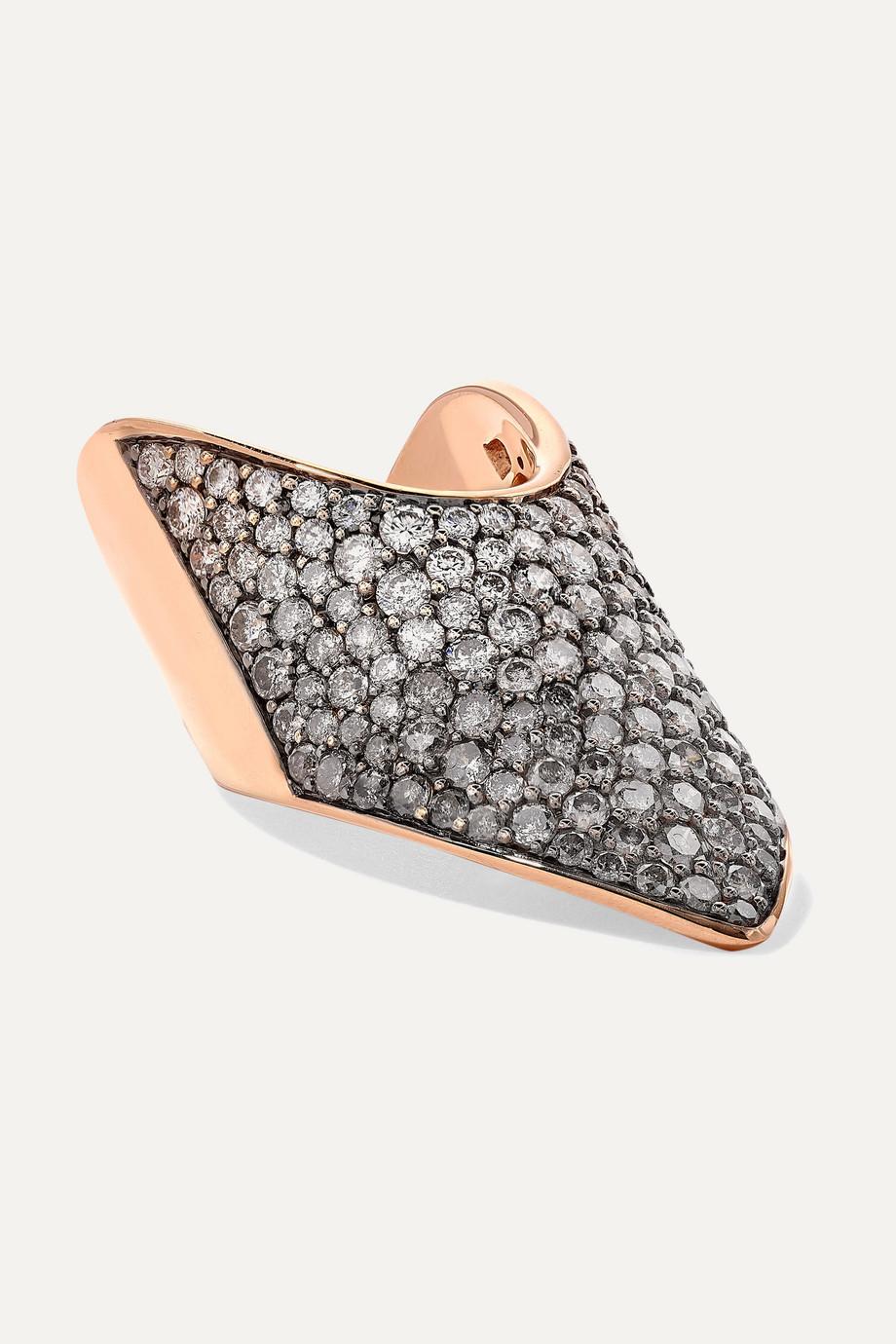 Diane Kordas 18-karat rose gold diamond ring