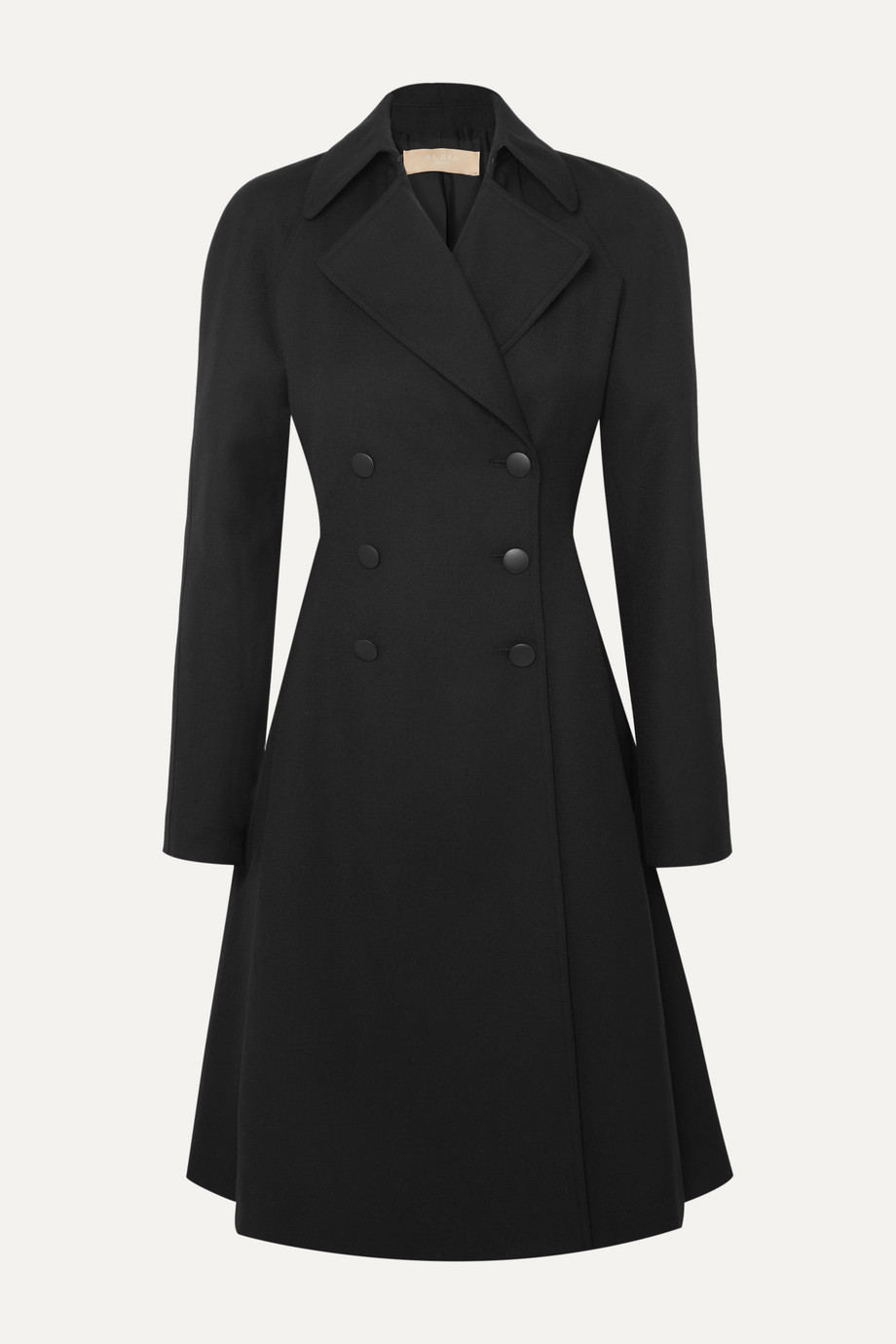 Alaïa Double-breasted wool-gabardine coat