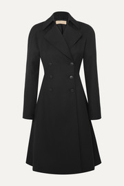 Double-breasted wool-gabardine coat