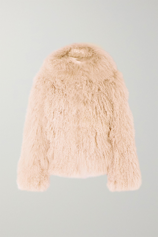 Alaïa Oversized-Jacke aus Shearling mit Kapuze