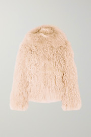 Alaïa Oversized hooded shearling coat