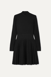Alaïa Ribbed wool-blend turtleneck mini dress