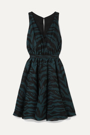 Alaïa Silk-blend jacquard-knit mini dress