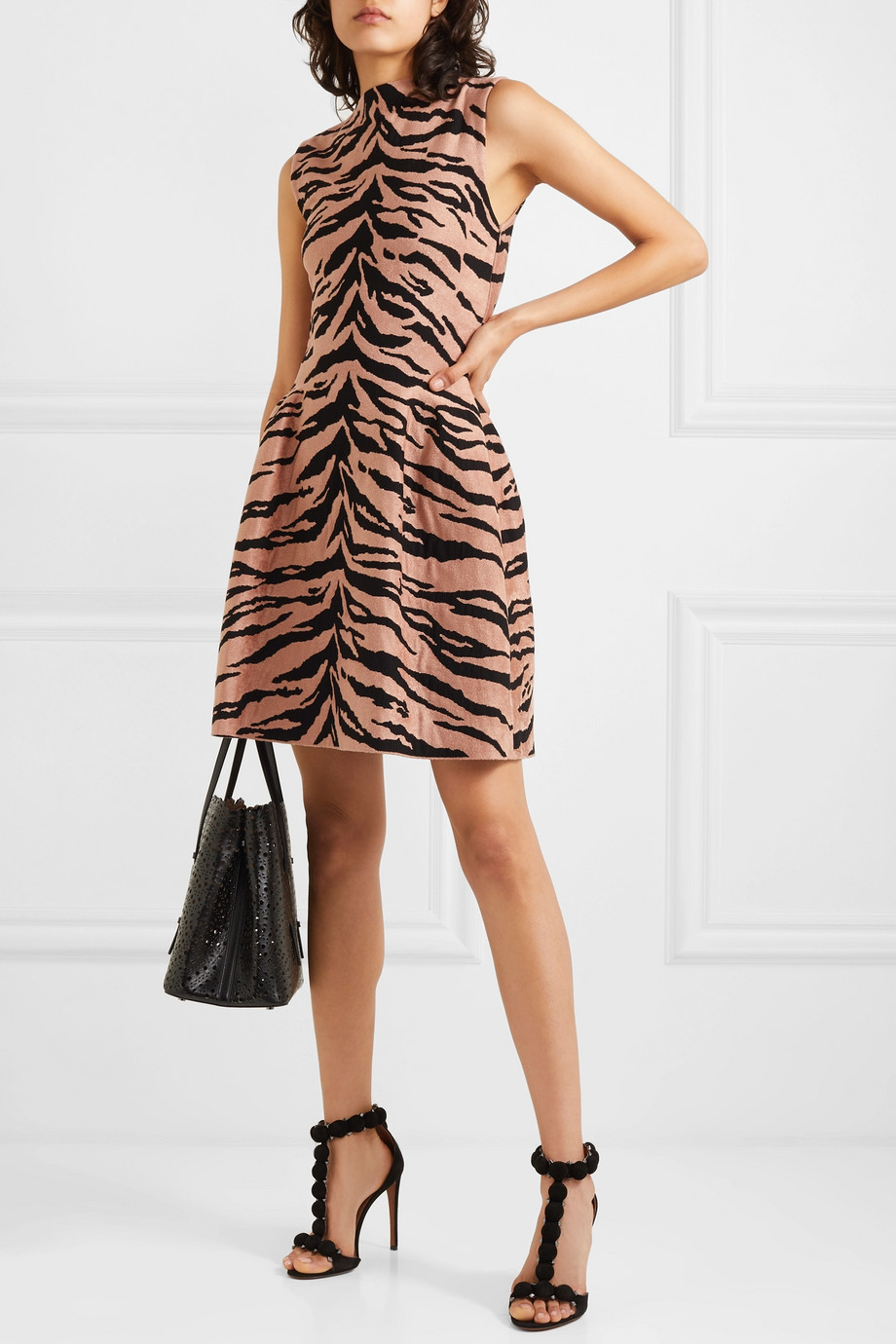 Alaïa Jacquard-knit mini dress