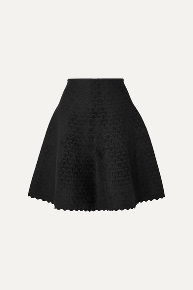 Scalloped Jacquard Knit Skirt by Alaïa