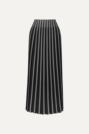 Alaïa Pleated jacquard-knit maxi skirt
