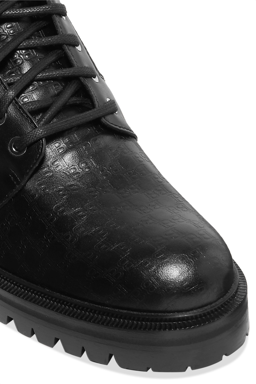 Balmain Ranger logo-debossed leather ankle boots