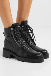 Ranger logo-debossed leather ankle boots