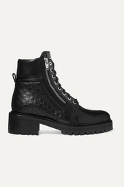Balmain Ranger logo-debossed leather ankle boots